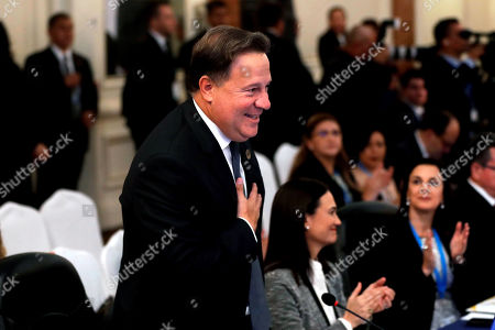 Panamanian President Juan Carlos Varela attends the meeting of heads of state and governments of the Central American Integration System (SICA), in Guatemala City, Guatemala, 05 June 2019.