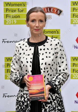 Anna Burns with her book Milkman