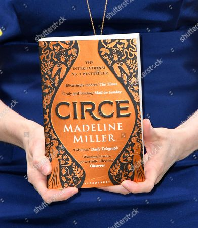 Madeline Miller with her book 'Circe'