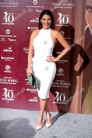 Venezuelan TV presenter Ivonne Reyes poses for the media before a concert by Spanish singer David Bisbal who turns 40, at Teatro Real in Madrid, Spain, 05 June 2019.