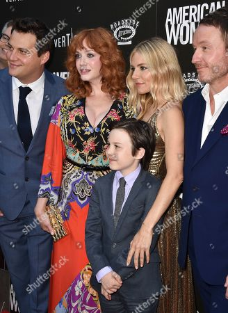 Michael A. Pruss, Christina Hendricks, Sienna Miller, Jake Scott and Aidan McGraw
