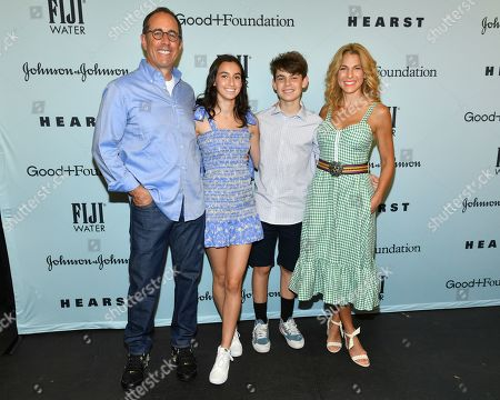 Stock Image of Jerry Seinfeld, Jessica Seinfeld and family