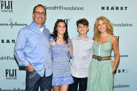 Jerry Seinfeld, Jessica Seinfeld and family