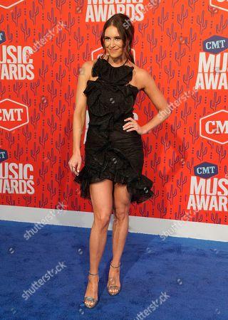 Kelleigh Bannen arrives at the CMT Music Awards, at the Bridgestone Arena in Nashville, Tenn