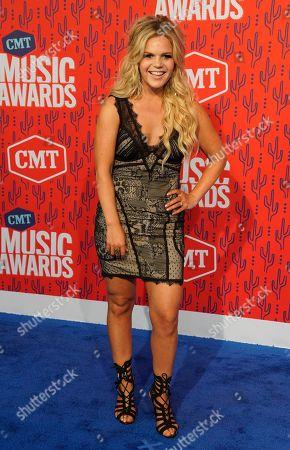 Natalie Stovall arrives at the CMT Music Awards, at the Bridgestone Arena in Nashville, Tenn