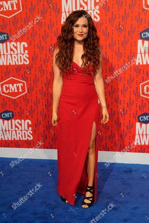 Kylie Morgan arrives at the CMT Music Awards, at the Bridgestone Arena in Nashville, Tenn