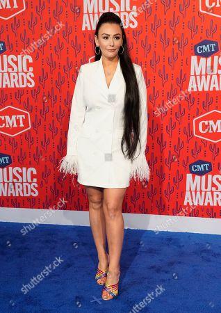 Jennifer Lynn Farley, also known as JWoww, arrive at the CMT Music Awards, at the Bridgestone Arena in Nashville, Tenn