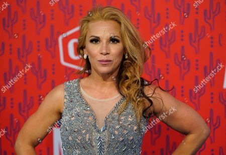 Stock Photo of Mickie James arrives at the CMT Music Awards, at the Bridgestone Arena in Nashville, Tenn
