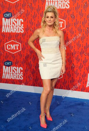 Stephanie Quayle arrives at the CMT Music Awards, at the Bridgestone Arena in Nashville, Tenn
