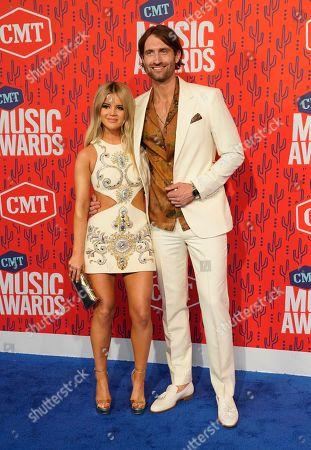 Maren Morris, Ryan Hurd. Maren Morris, left, and Ryan Hurd arrive at the CMT Music Awards, at the Bridgestone Arena in Nashville, Tenn