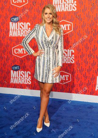 Jillian Cardarelli arrives at the CMT Music Awards, at the Bridgestone Arena in Nashville, Tenn