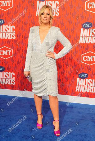 Clare Dunn arrives at the CMT Music Awards, at the Bridgestone Arena in Nashville, Tenn