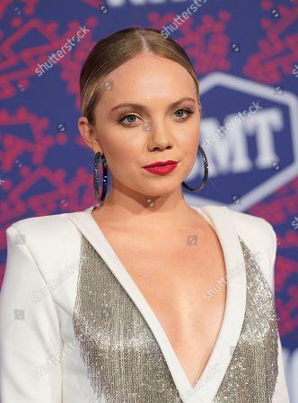 Danielle Bradbery arrives at the CMT Music Awards, at the Bridgestone Arena in Nashville, Tenn