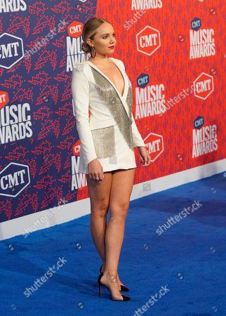 Stock Photo of Danielle Bradbery arrives at the CMT Music Awards, at the Bridgestone Arena in Nashville, Tenn