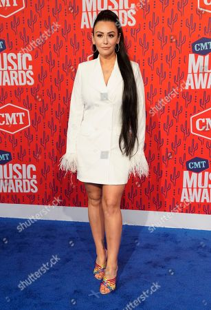 Stock Picture of Jennifer Lynn Farley, also known as Jenni J-Woww Farley, arrive at the CMT Music Awards, at the Bridgestone Arena in Nashville, Tenn