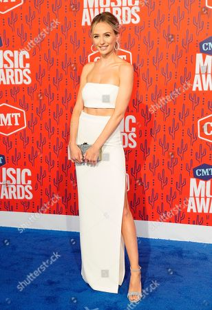 Lauren Bushnell arrives at the CMT Music Awards, at the Bridgestone Arena in Nashville, Tenn
