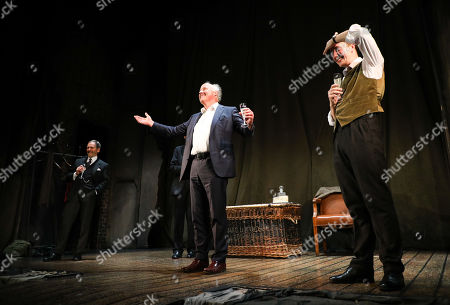 Stock Photo of Peter Wilson (Producer) during the curtain call for the 30th anniversary performance of The Woman in Black at the Fortune Theatre.