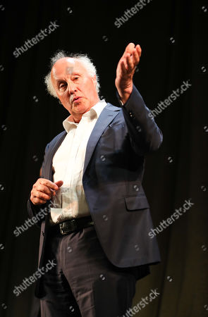 Stock Picture of Peter Wilson (Producer) during the curtain call for the 30th anniversary performance of The Woman in Black at the Fortune Theatre.