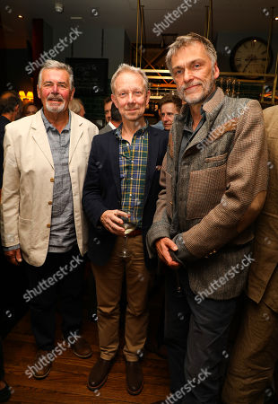 Stock Picture of Previous actors in the show, Terance Wilton (Arthur Kipps), Jamie Newell (The Actor) James Simmons (The Actor) at the pre-show drinks for the 30th anniversary showing of The Women in Black, shown at the Fortune Theatre
