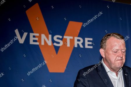 Danish Prime Minister Lars Loekke Rasmussen of the liberal party attends a press conference after the election results were announced during the Parliamentary Elections, at Christiansborg Castle in Denmark, 05 June 2019.