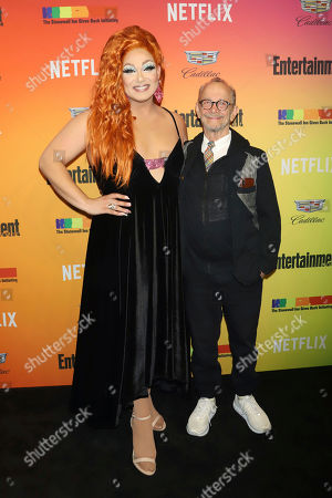Alexis Michelle, Joel Grey. Alexis Michelle, left, and Joel Grey attend Entertainment Weekly's LGBTQ issue party at the Stonewall Inn, in New York