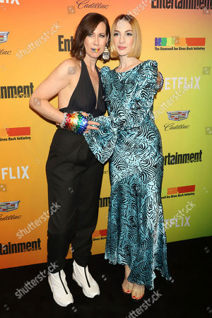 Miriam Shor, Molly Bernard. Miriam Shor, left and Molly Bernard attend Entertainment Weekly's LGBTQ issue party at the Stonewall Inn, in New York