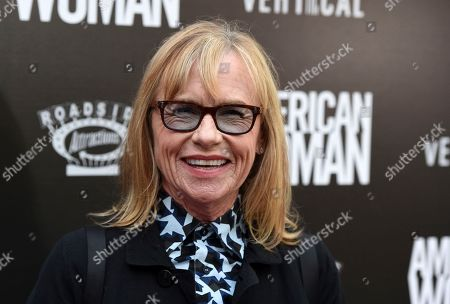 """Amy Madigan, a cast member in """"American Woman,"""" poses at the premiere of the film at the ArcLight Hollywood, in Los Angeles"""
