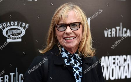 """Amy Madigan, a cast member in """"American Woman,"""" arrives at the premiere of the film at the ArcLight Hollywood, in Los Angeles"""