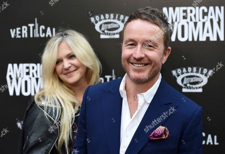 """Jake Scott, Leigh Goldstone Scott. Jake Scott, director of """"American Woman,"""" poses with his wife Leigh at the premiere of the film at the ArcLight Hollywood, in Los Angeles"""