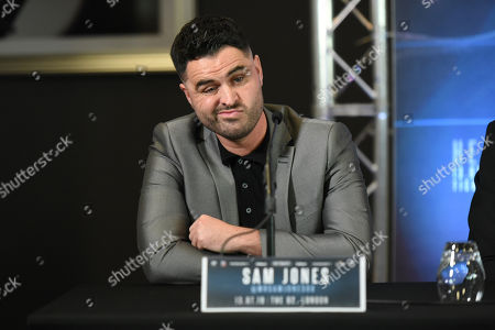 Stock Image of Sam Jones during a Press Conference at Intercontinental Hotel O2 on 5th June 2019