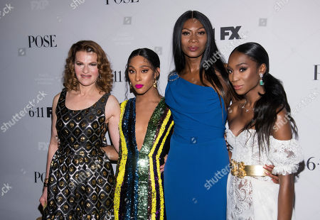 "Sandra Bernhard, Mj Rodriguez, Dominique Jackson, Angelica Ross. Sandra Bernhard, left, Mj Rodriguez, Dominique Jackson and Angelica Ross attend FX Networks' ""Pose"" season 2 premiere at The Plaza Hotel, in New York"