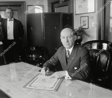 Veterans Bureau head, Gen. Frank T. Hines, May 20, 1924. He replaced the corrupt Charles Forbes. Hines served as head of the Veterans Bureau until 1930, then as administrator of its successor, the Veterans Administration, from 1930 to 1945.