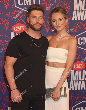 Stock Picture of Chris Lane and Lauren Bushnell