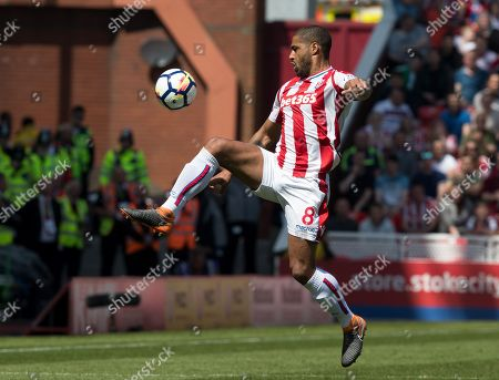 Football: Premier League: Stoke City 1 Crystal Palace 2. Stoke Are Relegated. May 5th 2018 - Stoke Uk - Stoke V Crystal Palace - Stoke's Glen Johnson.