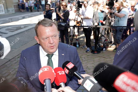 Denmark's outgoing prime minister Lars Lokke Rasmussen speaks to the press as he leaves Amalienborg Castle, where he announced to the Queen that his goverment will resign, in Copenhagen, Denmark, 06 June 2019. Denmark headed to the polls on 05 June to elect a new parliament, the Folketing.