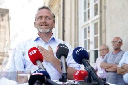 Head of Liberal Alliance and former foreign minister Anders Samuelsen during a press conference after stepped down as head of his party following a poor result in the general election, at Christiansborg Castle, in Copenhagen, Denmark, 06 June 2019. Denmark headed to the polls on 05 June to elect a new parliament, the Folketing.