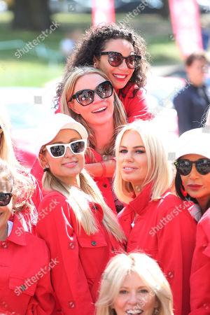 Sharlely Lilly Kerssenberg, Paris Hilton and Caroline Stanbury and Jodie Kidd