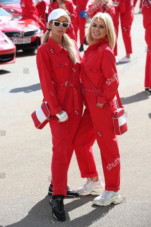 Stock Image of Paris Hilton and Caroline Stanbury