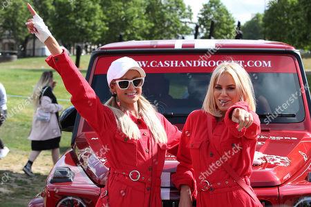 Stock Photo of Paris Hilton and Caroline Stanbury