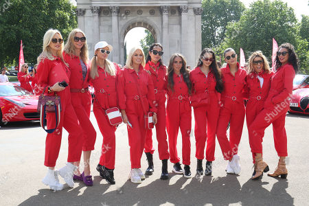 Paris Hilton, Caroline Stanbury, Sharlely Lilly Kerssenberg and guests