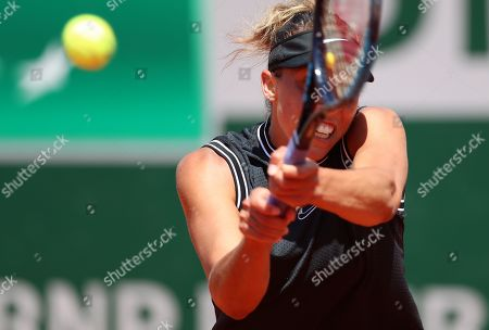 Madison Keys of the USA plays Ashleigh Barty of Australia during their women?s quarter final match during the French Open tennis tournament at Roland Garros in Paris, France, 06 June 2019.