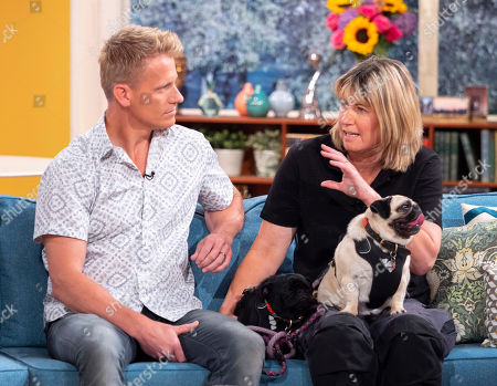 Christine King, her lesbian pugs, Pugly and Nelly and vet Dr Scott Miller