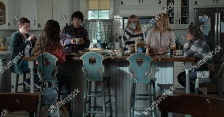 Sean Berdy as Sam Eliot, Gideon Adlon as Becca Gelb, Jose Julian as Gordie, Kathryn Newton as Allie Pressman, Rachel Keller as Cassandra Pressman and Salena Qureshi as Bean