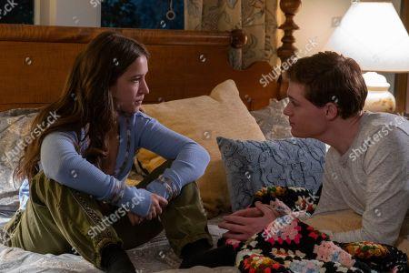 Gideon Adlon as Becca Gelb and Sean Berdy as Sam Eliot