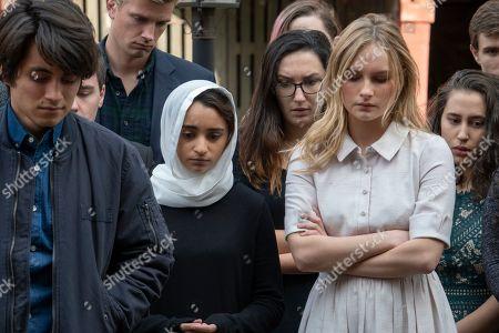 Jose Julian as Gordie, Salena Qureshi as Bean and Olivia DeJonge as Elle Tomkins