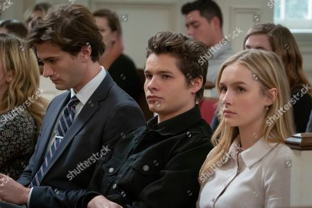 Alex Fitzalan as Harry Bingham, Toby Wallace as Campbell Eliot and Olivia DeJonge as Elle Tomkins