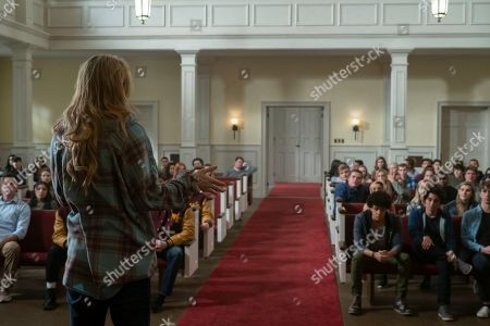 Stock Image of Kathryn Newton as Allie Pressman, Jacques Colimon as Will LeClair and Jose Julian as Gordie