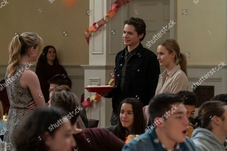 Stock Photo of Kathryn Newton as Allie Pressman, Toby Wallace as Campbell Eliot and Olivia DeJonge as Elle Tomkins