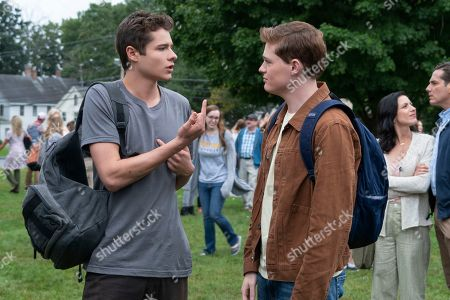 Toby Wallace as Campbell Eliot and Sean Berdy as Sam Eliot