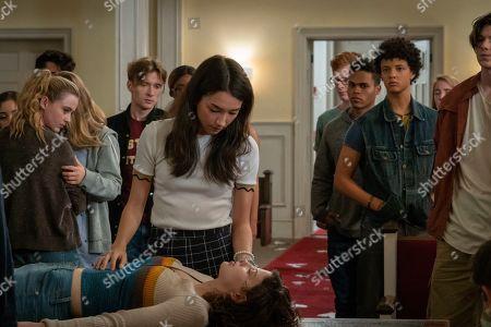 Kathryn Newton as Allie Pressman, Natasha Liu Bordizzo as Helena, Jacques Colimon as Will LeClair and Jack Mulhern as Grizz